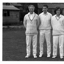 Clydebank Cricket Club  -   Bill Martin, Sandy McNicol, Billy King, Billy McKain - Photo supplied by Billy McKain, who is in this photo,