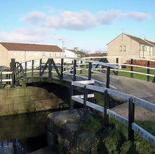 The canal bridge at Whitecrook - Linnvale. - 7th February 2009 - whitecrook, Clydebank