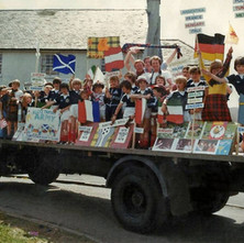 Duntocher Boys Club float at the Duntocher & Hardgate Gala Day 1978.  - Photograph supplied byAndy Higney (who is on the float near the front).