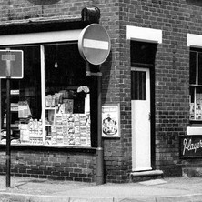 John Street, Wakefield with a traditional corner shop, like Coronation street. - 12th july 1979