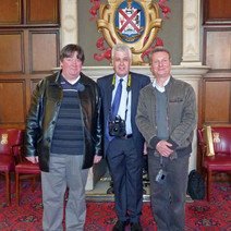 Pat Fox, me and Tom McKendrick. It was Pat and Tom who built and erected the Beardmore Sculpture. - Sunday 25th April 2010 Clydebank