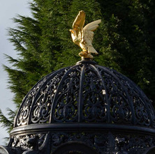 The Eagle is looking splendid with its new gold leaf applied. Dalmuir Park  - 5th February 2013