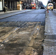 Laying tarmac on Dumbarton Road 1963 - from the collection of Jack Carson