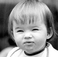 Jennifer making a face. - May 1980