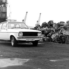 Rothesay Dock. - My car is getting nervous sitting next to all these scrapped cars. - 8th March 1980