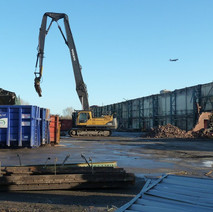 The large Thor Ceramics shed is almost completely demolished.  -  6th January 2011