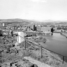 A spectacular view from Dumbarton Rock. - August 26th 1978