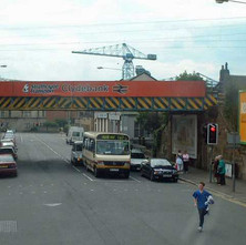 Near the bottom of Kilbowie Road.  -  18th August 2001