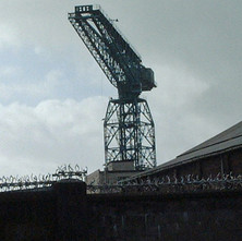 Shipyard crane viewed from Hall Street.  -  2nd October 2001