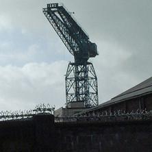 Shipyard crane viewed from Hall Street.  -  2nd October 2001