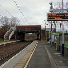 On the platform of Yoker Train Station.  -  23rd January 2020