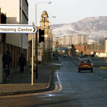 Glasgow Road. We now have a sign pointing to the Clyde Shopping Centre and the road is now a dual carraigeway.  -  December 1