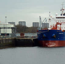 Oil tanker Ganges Star docked at Rothesay Dock. - 24th February 2011