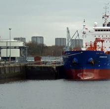 Oil tanker Ganges Star docked at Rothesay Dock. - 24th February 2011