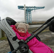 I took my granddaughter Hope a walk down to the Titan Crane. It was cold. -   28th February 2015