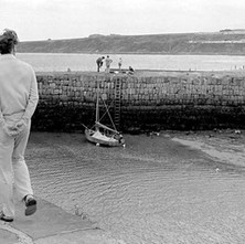 Man enjoying a stroll along the harbour. - Sunday 23rd July 1978