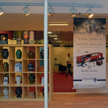 Urns and Picture Coffins in the new Co-op Funeral shop - 7th February 2013
