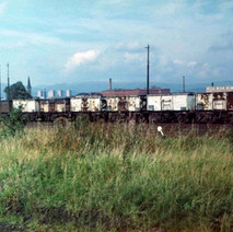 Rolling stock at the Rothesay Dock. - Photo by Tommy Quinn. October 1978