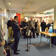 Provost Douglas McAllister opened the 'Blitz Remembered' Exhibition in the Clydebank Library.  -  11th March 2016
