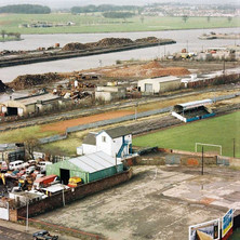 Looking down on Holm Park from the Yoker flats.  -  1994