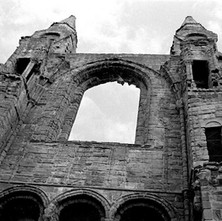 The east gable ruins of the Cathedral of St Andrew. This was at one time the largest building in Scotland. - 16th July 1978