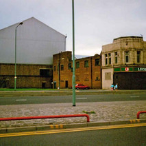 The Lucky Break Snooker Club, in the old Woolworth's building. Shipyard in the background. Clydebank 1987. - Photos taken by Sarah from California, USA
