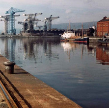 The Rothesay Dock looking towards the shipyard. - Photo by Tommy Quinn. October 1978