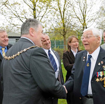 Freddie meeting our Provost, Denis Agnew. Freddie had no idea that Clydebank were laying on a special lunch for him in the Town Hall. - Sunday 25th April 2010 Dalmuir