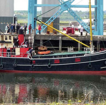 The Vic 32, the last seagoing coal fired steam 'Clyde Puffer'. It was built in 1943 and has been well known for the last 30 years on the West Coast of Scotland. - Thursday 6th May 2010