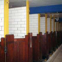 The changing cubicles at the Clydebank Baths in Bruce Street.  -  24th March 2002
