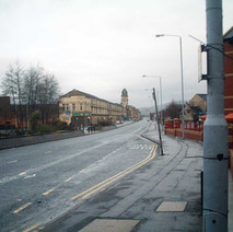 Glasgow Road, looking towards the Lucky Break Snooker Hall, which used to be Woolworths.  -  27th January 2002