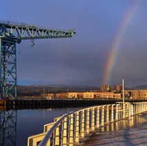 Titan and the Rainbow down at the River Clyde.  -  3rd January 2021