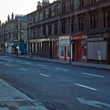Dumbarton Road. - Photo by Tommy Quinn. 1979