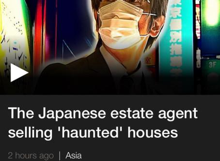 Filming Jiko Bukken agent for BBC