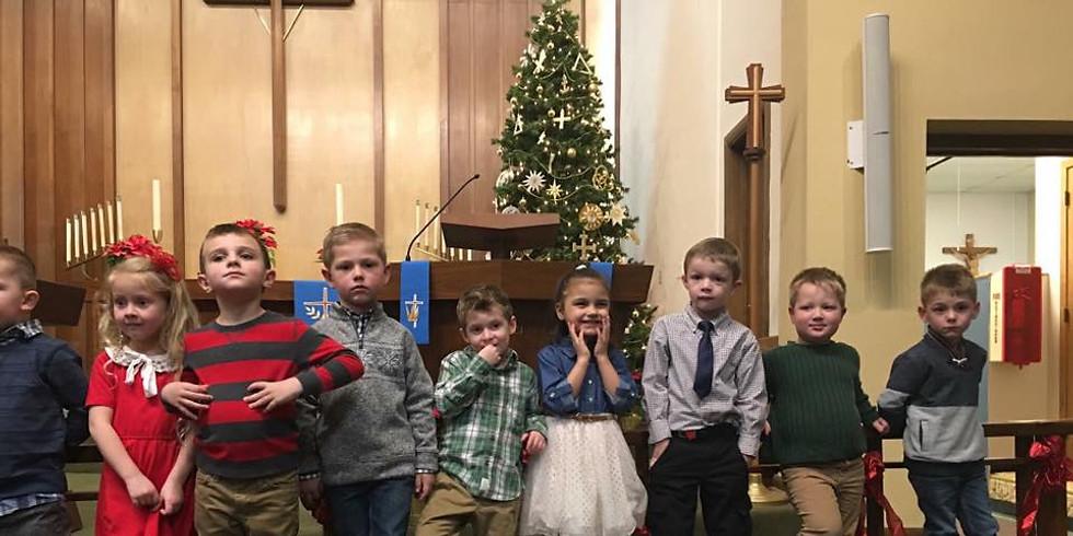Preschool Christmas Worship Service