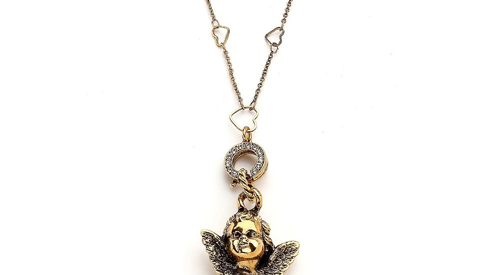 MonReve Heart Chained Angel Necklace