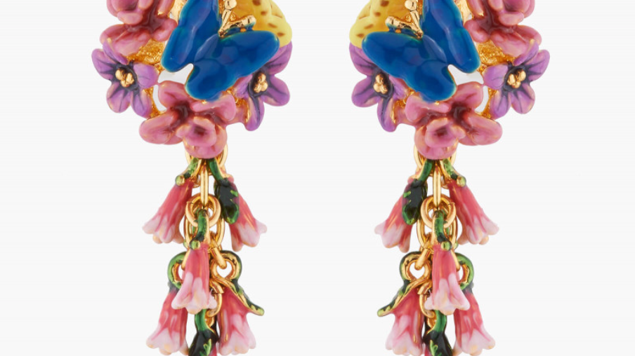 Royal Blue Bell And Common Heath Stud Earring