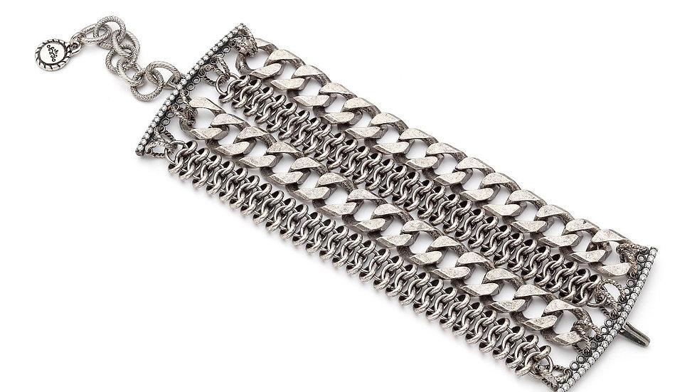 MonReve Silver Thick Chain Bracelet