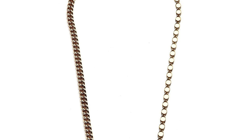 MonReve Thick Chain with Green Ball Stone Necklace