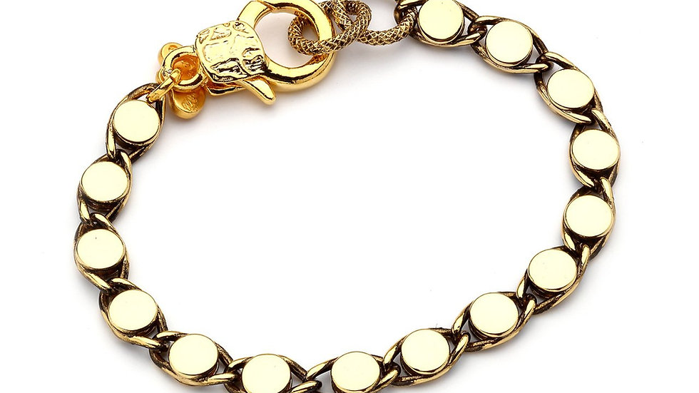 MonReve Single Row Gold Chain Bracelet
