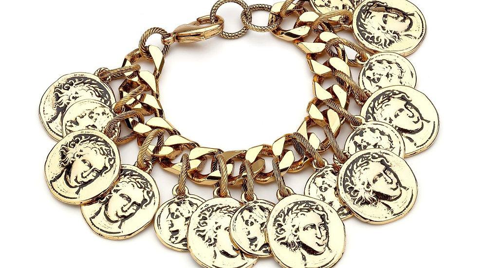 MonReve Thick Coin Bracelet