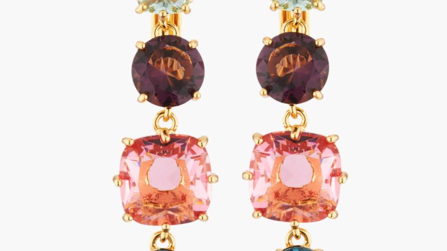 Post earring La Diamantine Tutti Frutti
