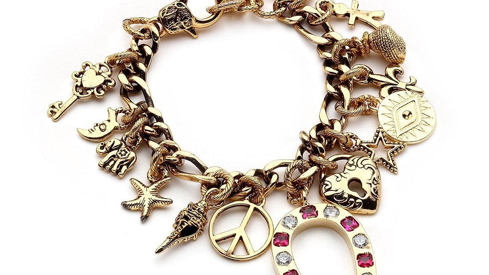 MonRevre Moon, Elephant, Horseshoe, Eye, Heart, Star Bracelet
