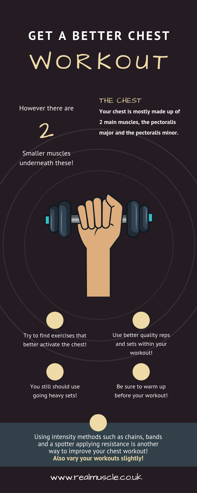 Chest Workout Tips Infographic