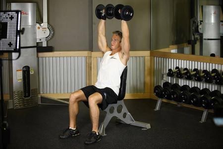 dumbbell shoulder press exercise