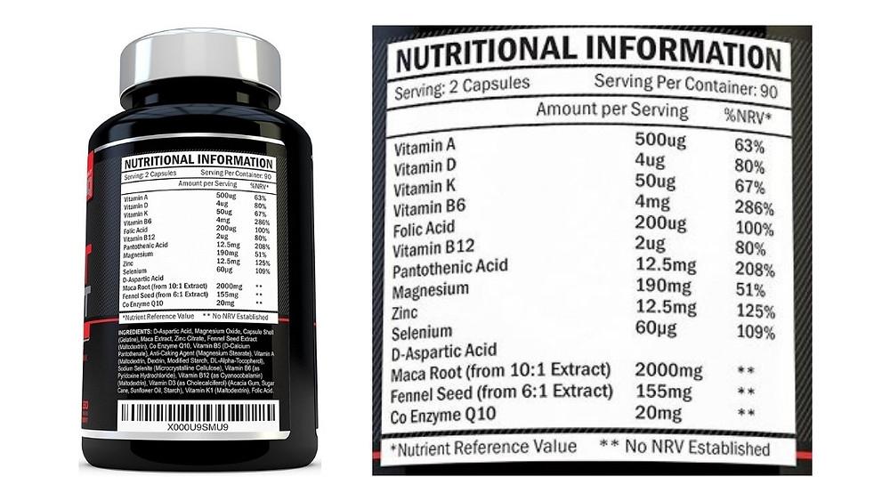 xellerate test boost supplement ingredients
