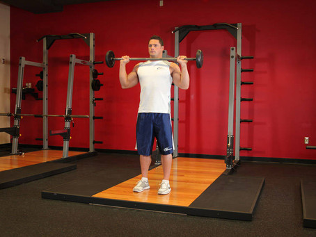 How To Do The Standing Military Press [Exercise Guide with Photos]