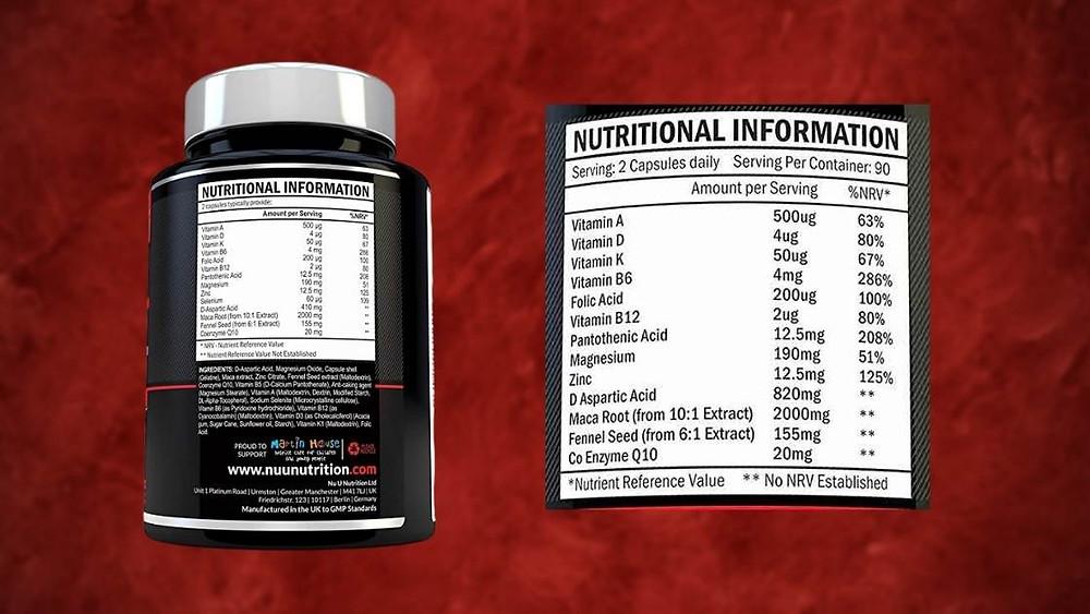 Xellerate Test Boost ingredients