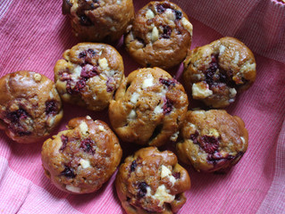 White Chocolate Chip Raspberry Muffins