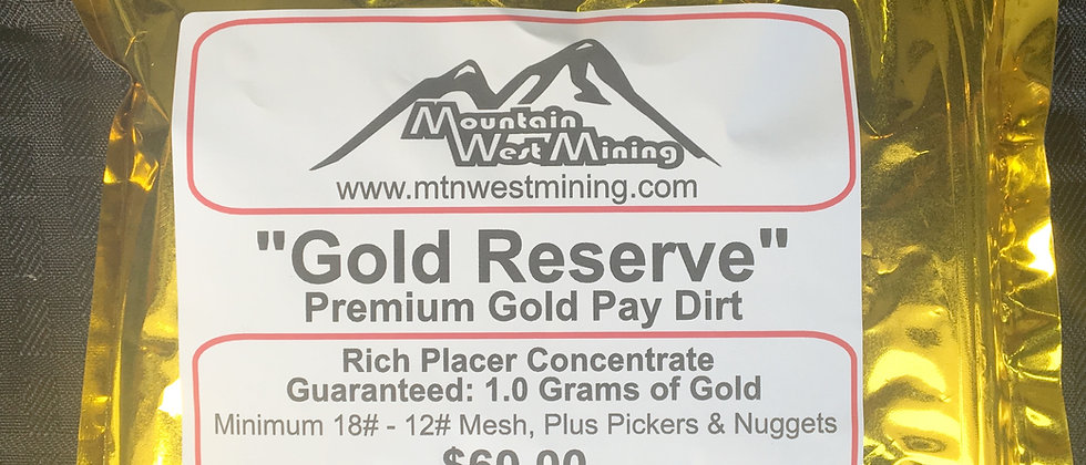 GR2   Premium Gold Pay Dirt - 1 Gram